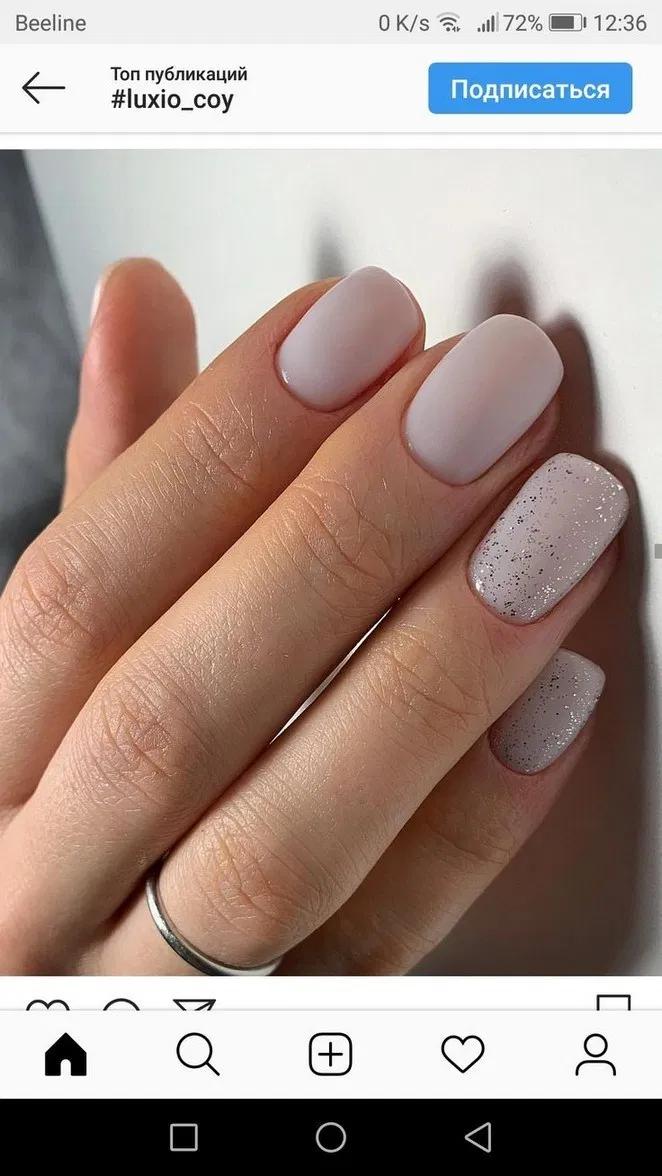 Más de 99 diseños de uñas de gel con brillo para uñas cortas para la primavera de 2019110 ~ thereds.me