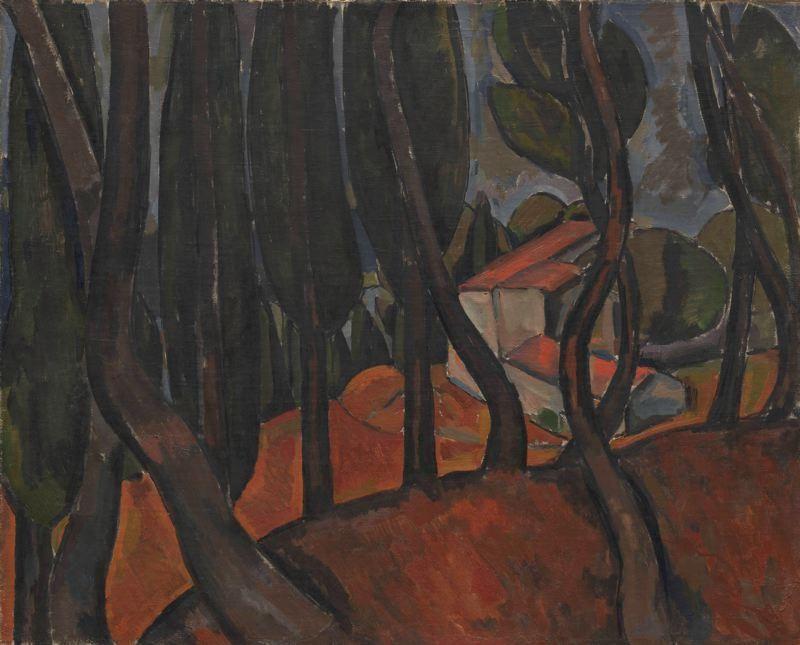 'Wald in Martigues', öl auf leinwand von André Derain (1880-1954, France)
