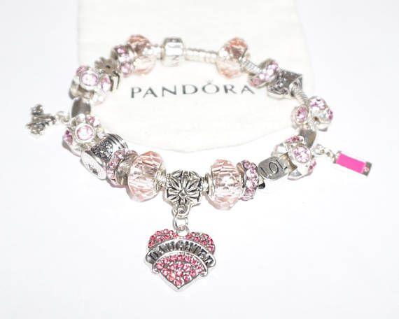 Pretty In Pink Daughter LOL Authentic Jared Pandora Bracelet
