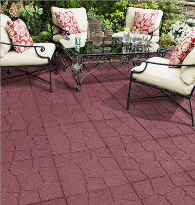 This Design Was Accomplished Using Rubber Pavers