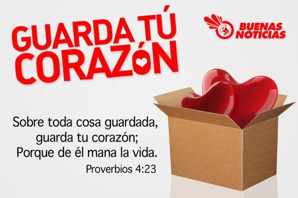 RECUERDA: Sobre toda cosa guardada, guarda tú corazón porque de el mana la vida. (Proverbios 4:23)