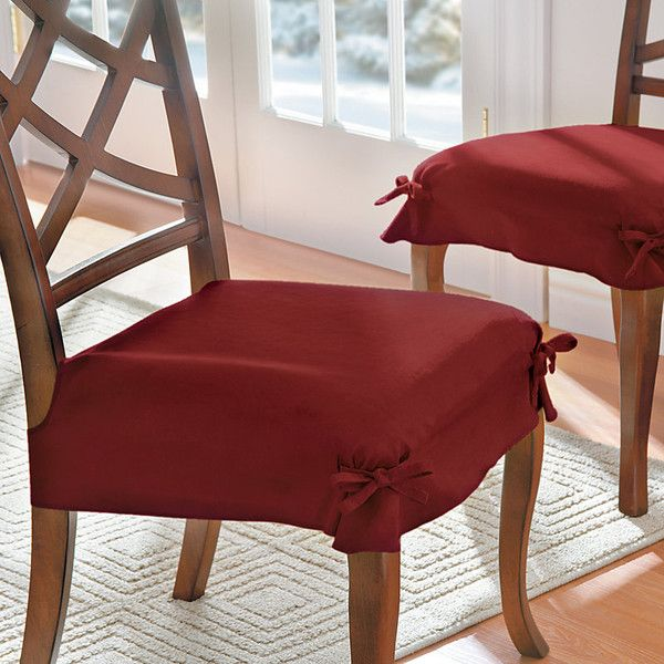 Improvements Faux Suede Dining Chair Seat Covers Set Of 2 Sage 135 Cny