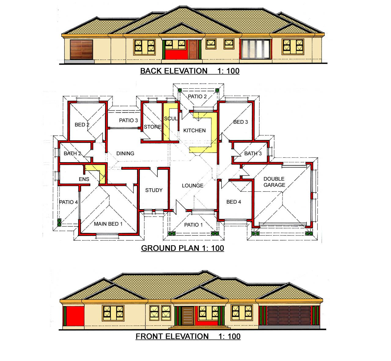 At Gosebo House Plans We Design The Unique Building Plans House Plans South Africa Single Storey House Plans My House Plans