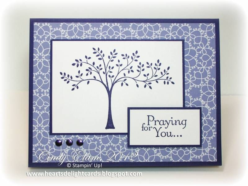 Sympathy Card Ideas To Make Part - 35: Handmade Sympathy Card ... Ideas For Thoughts And Prayers By Stampinu0027 ...