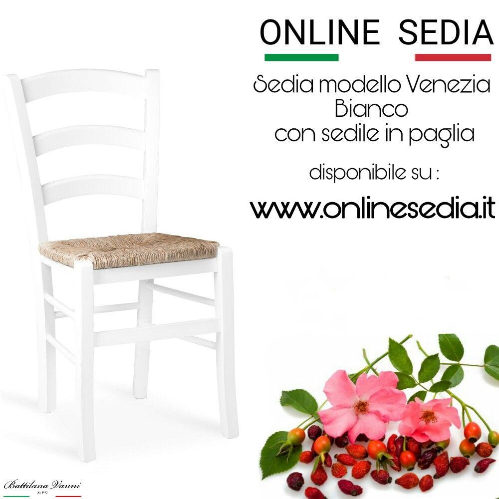 Sedia / chair VENEZIA Bianco anilina #chair #furniture # ...