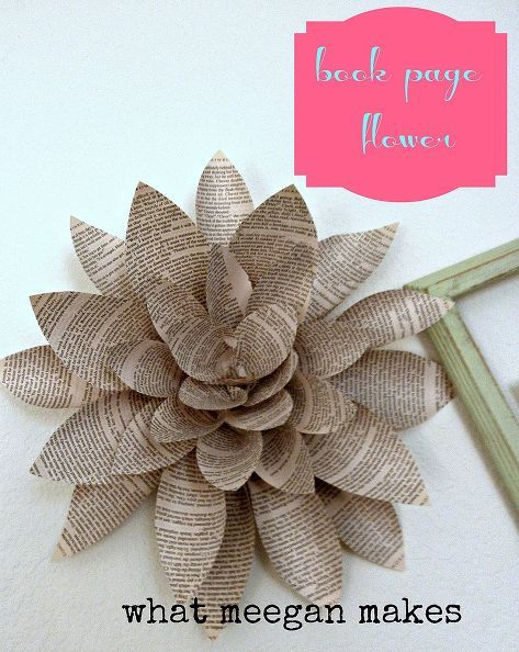 Making a book page flower crafts flowers flowers tutorials making a book page flower crafts flowers mightylinksfo