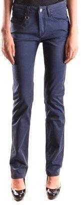 Burberry Women's Blue Cotton Pants.