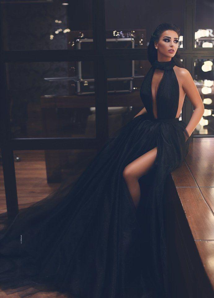 Fashion Schwarz Abendkleider Lang Günstig | Abendmoden ...
