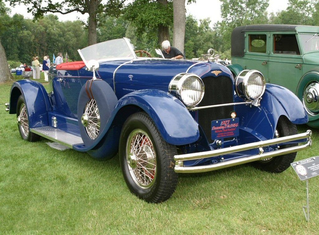 1927 Duesenberg Model X Boattail Roadster Blue Duesenberg Car