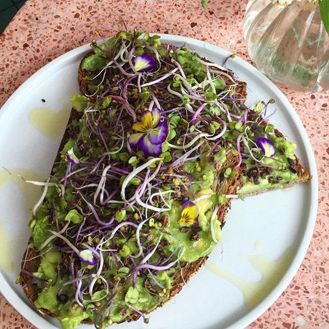 Lunch is coming : avocado lover, try our avo toast with cacao seeds, seasonal sprouts and flowers 🥑 💐 — 📷 @jpeuxgouter —