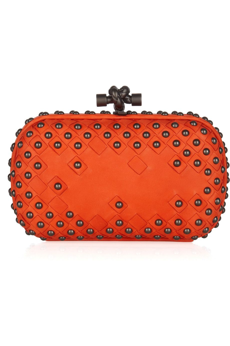 78730b8209 Bottega Veneta studded clutch... Studs + Orange   me sold (minus the  1780  price tag