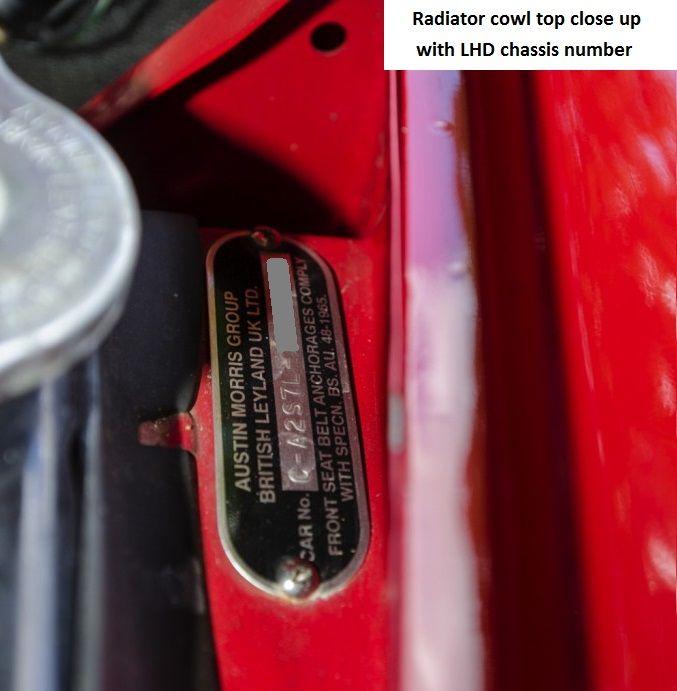 Austin Mini MK1 Cooper S Chassis Number
