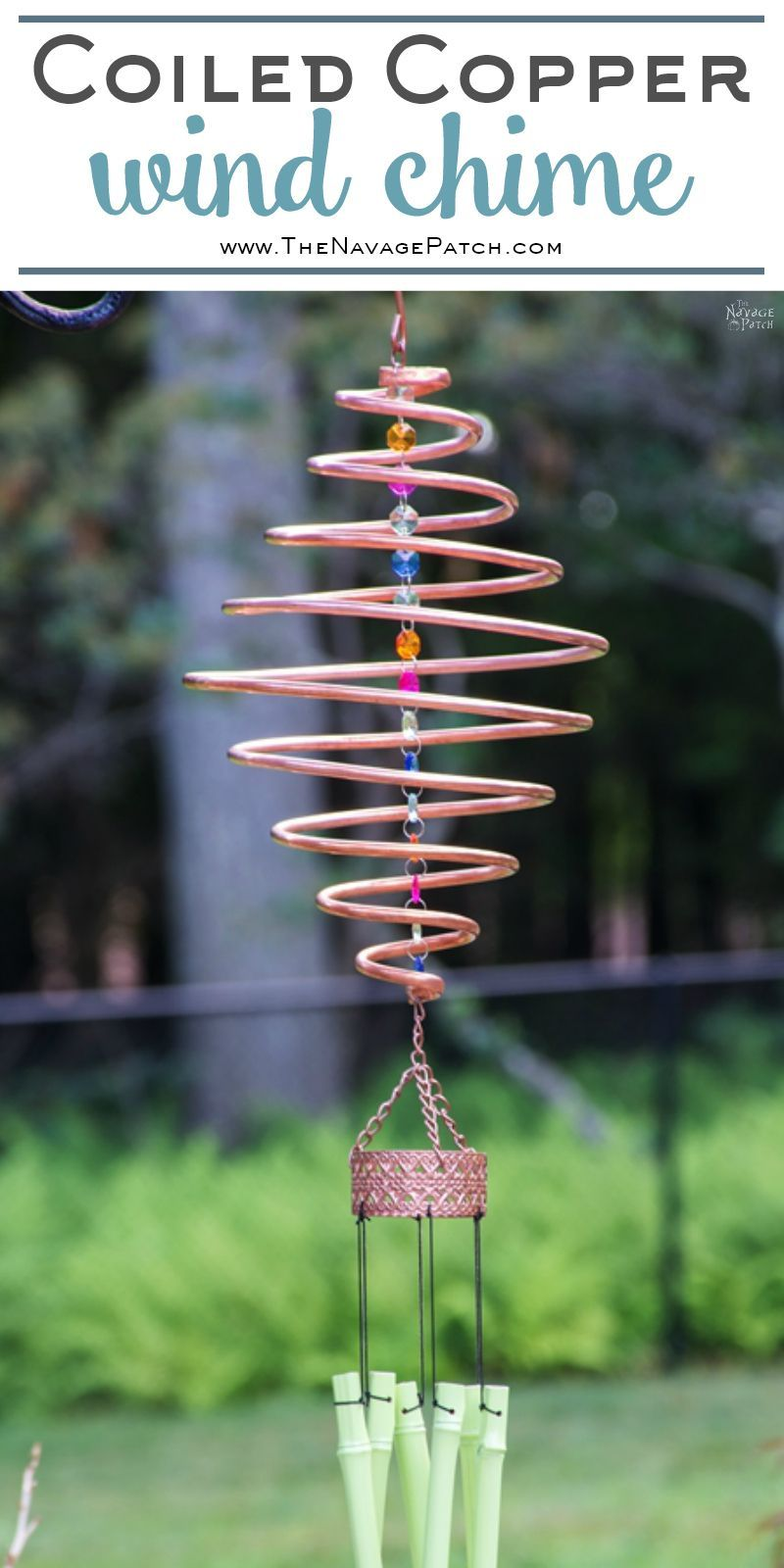 Coiled Copper Wind Chime | DIY Wind Chime | How Make A Spiral Wind Chime  From