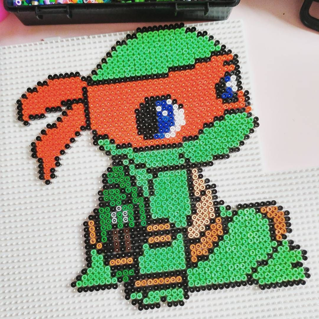 Michaelangelo - TMNT hama beads by andy_snook1511 | beads ...
