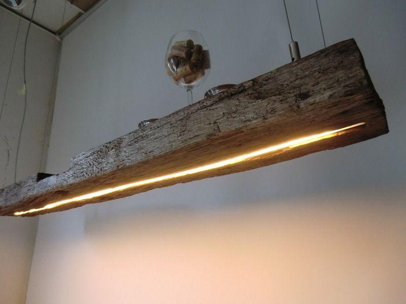 lampen aus holzzstreifen mit schwarz