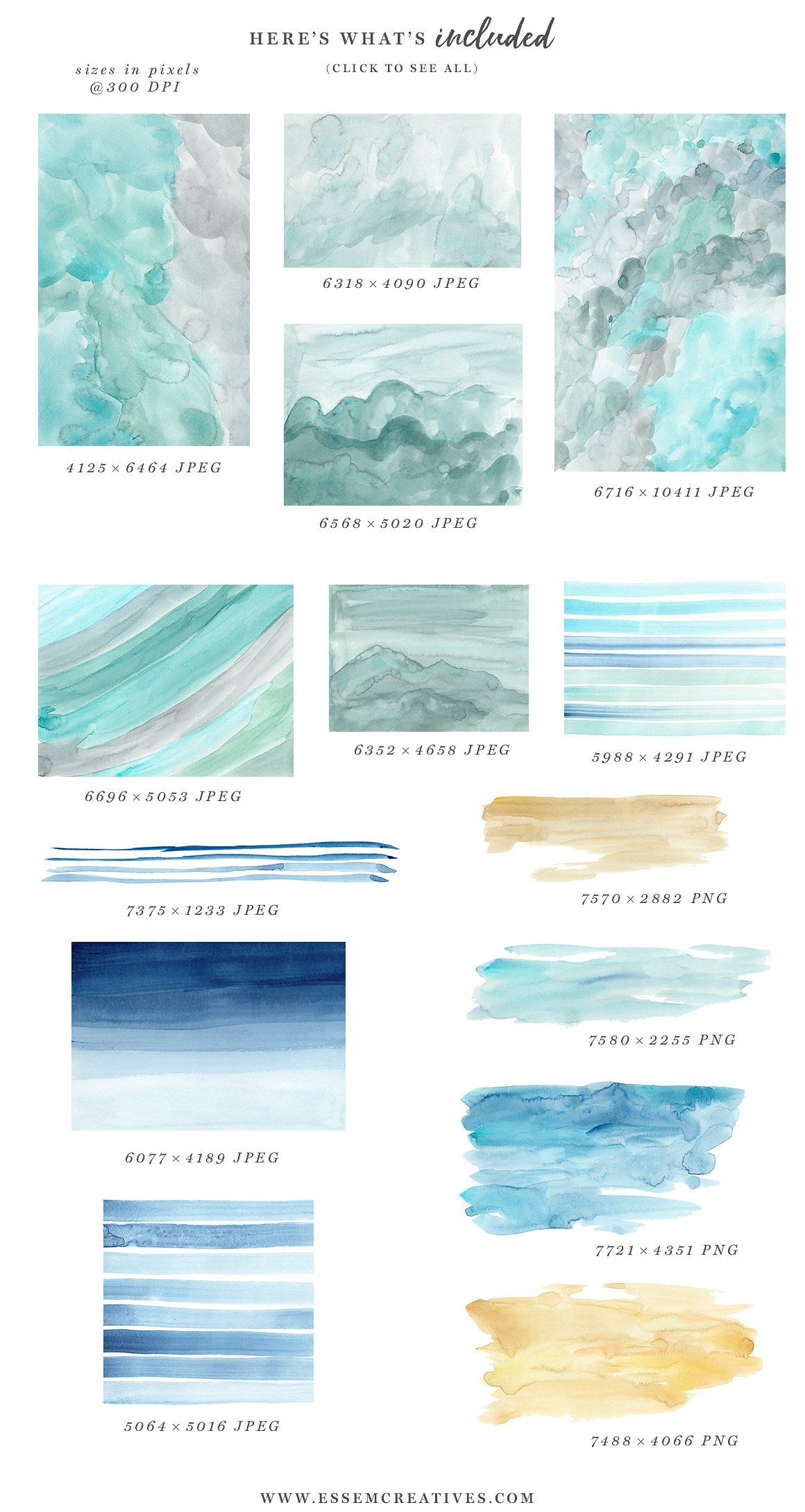 Ocean Beach Watercolor Backgrounds Beach Watercolor