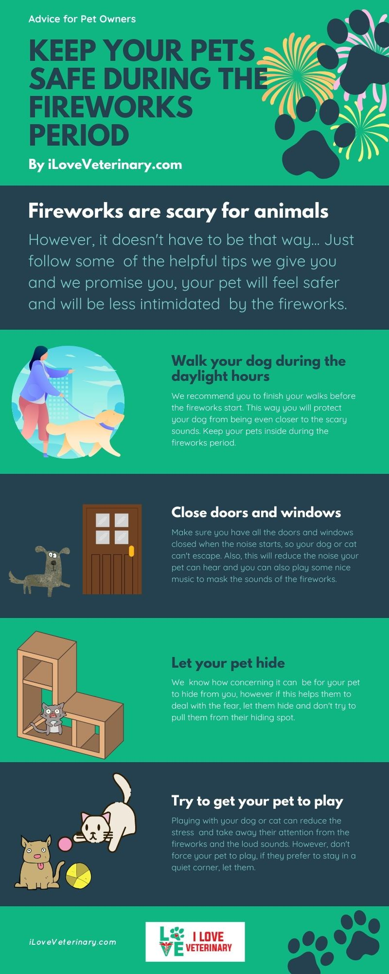 Keep your Pets safe during the fireworks period I Love