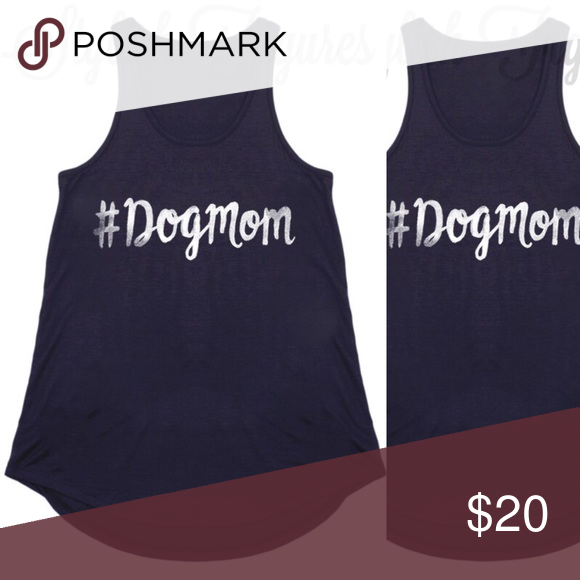 Tank top Black tank top with #dogmom. Great top for all you wonderful dog mommies! Tops Tank Tops
