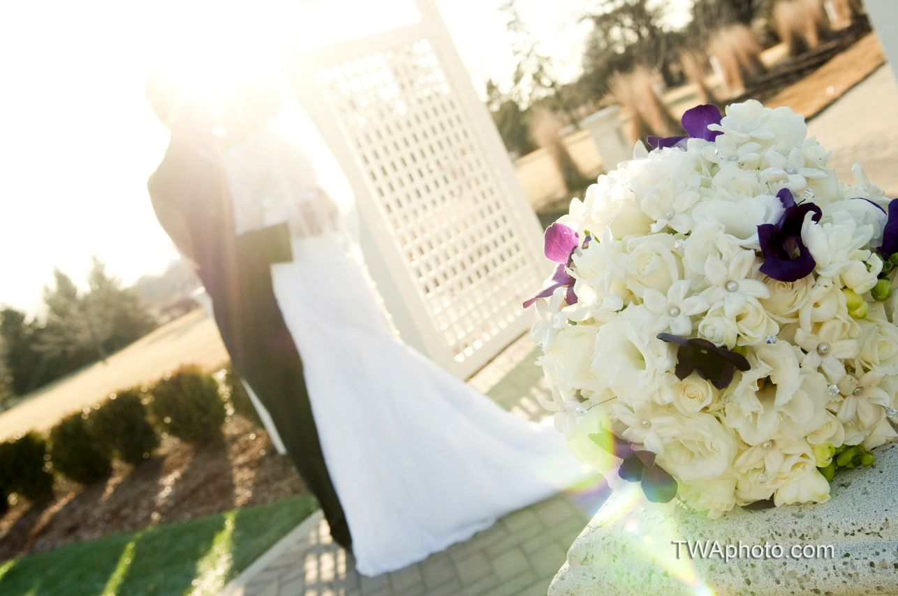 Another image of this classy bouquet with a modern flare.  www.twaphoto.com  #bride #bouquet