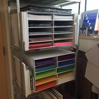 Pacon Construction Paper Storage Unit In 2020 Construction Paper Storage Paper Storage Storage Unit