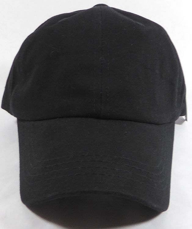 84adc160caf Washed 100% Cotton Plain Baseball Cap - Gold Metal Buckle - Black ...