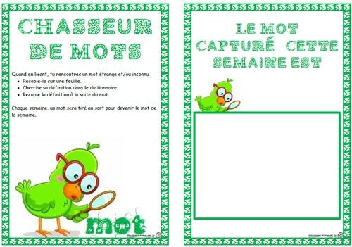 Chasseur De Mots Vocabulaire Ce1 Ce2 Cm1 Cm2 Dictionnaire