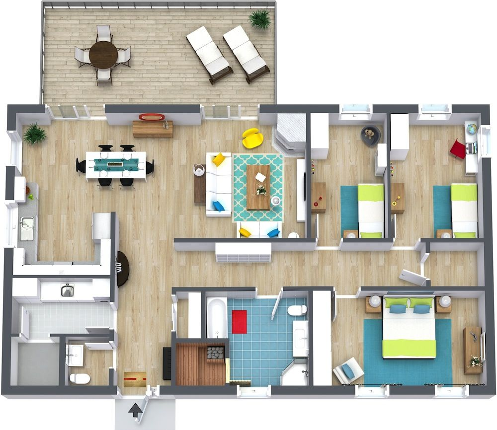 Roomsketcher Obergeschoss 3 Bedroom Floor Plans En 2019 Artiste Peintre House