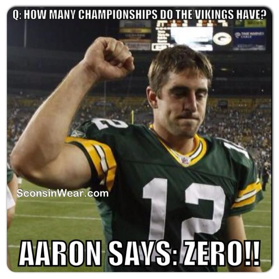 0 Championships For The Vikqueens Superbowl Xlv Aaron Rodgers Green Bay