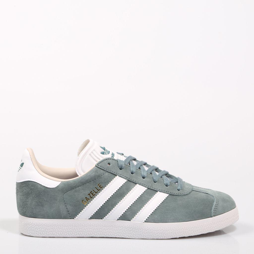 Adidas Originals Damen Gazelle Trainer Grün und Weiß Online