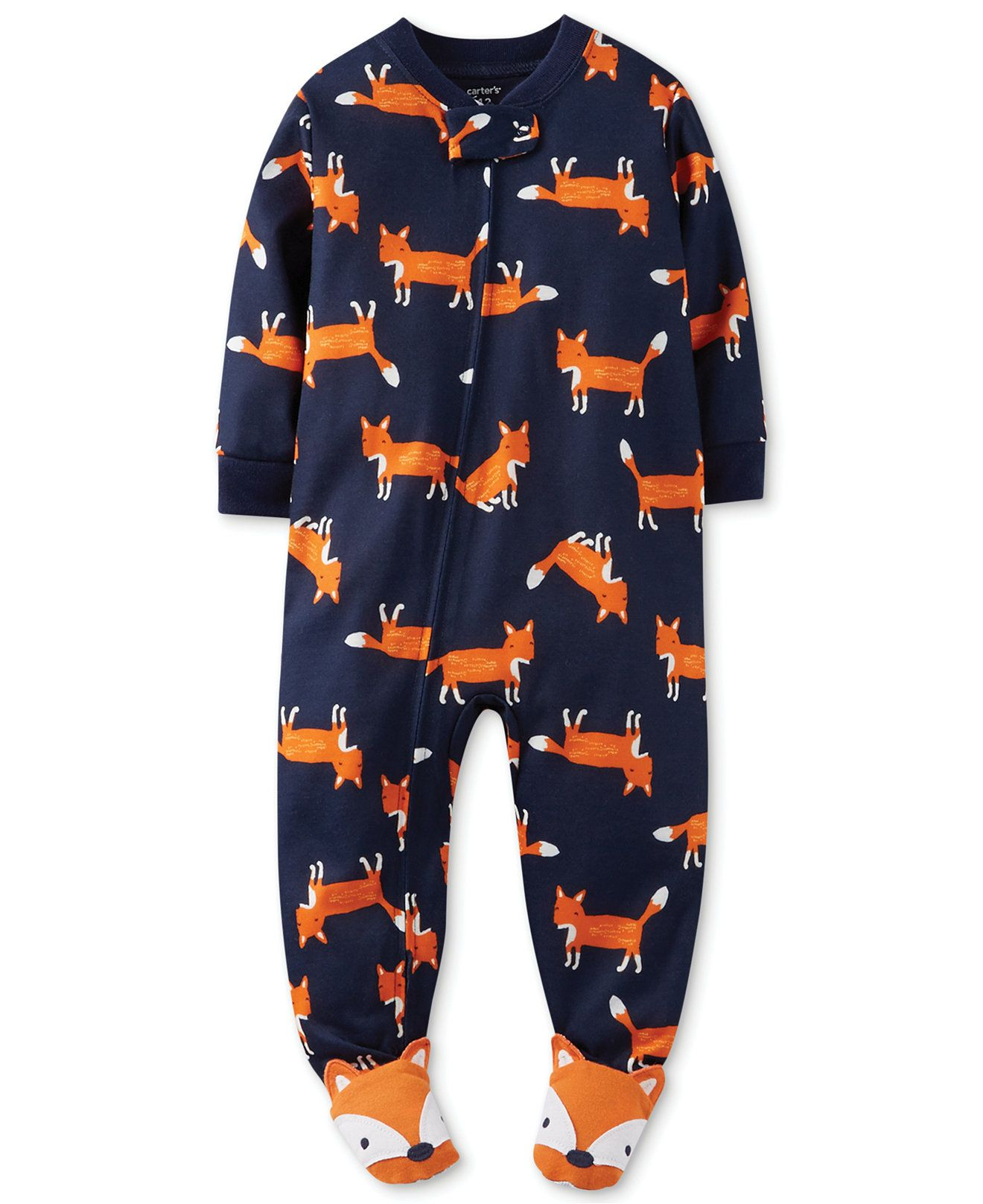 51c030ebe Carter's Baby Boys' Fox Coverall Pajamas - Kids Baby Boy (0-24 months) -  Macy's on sale for $9