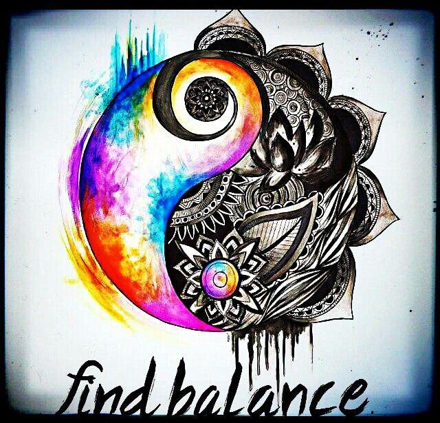 70 Cute Peace Tattoos: ☮American Hippie - Ying Yang