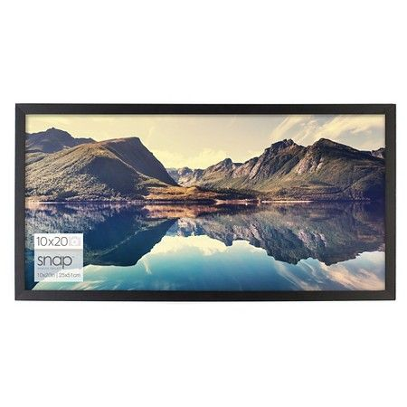 10 X 20 Wood Frame Black Snap With Images Picture On Wood Wood Picture Frames Photo Wall Gallery