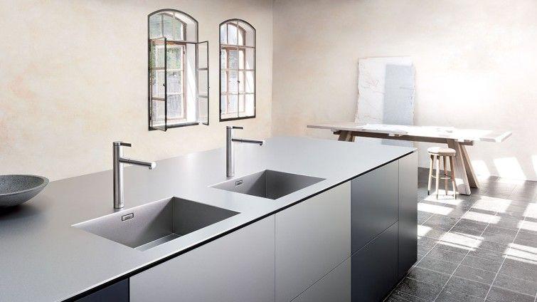 BLANCO Durinox ist doppelt so hart wie herkömmlichen Edelstahl - Arbeitsplatte Küche Edelstahl