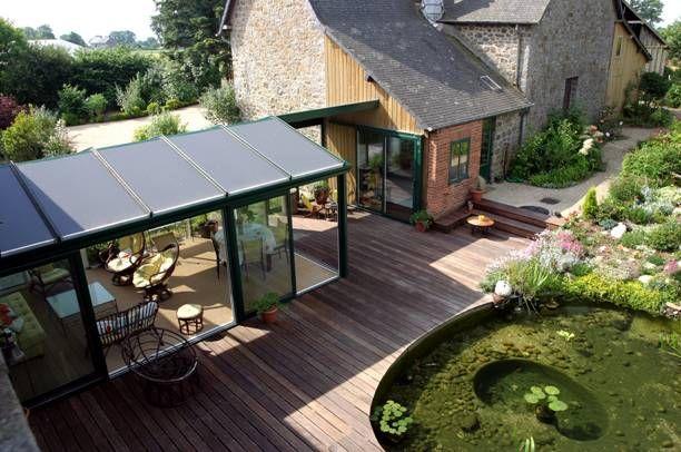 Relier 2 batiments recherche google amenagement exterieur jardin pinterest veranda - Agrandissement maison veranda ...