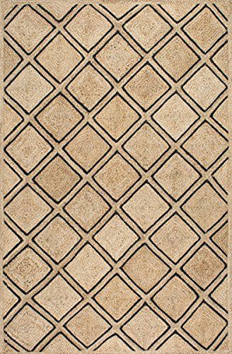 Handmade Natural Fiber Tribal Diamond Trellis Jute Black Area Rugs 8 Feet By 10 Feet 8 X 10 Rugs Area Rugs Black Area Rugs