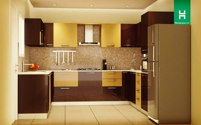 Robin rich u shaped kitchen max on utility minimum on for Kitchen cabinets india