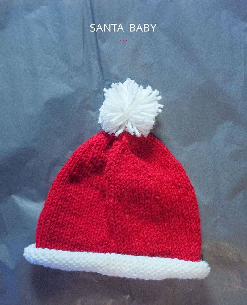 Knit this baby santa hat free pattern crochetknit hatscaps knit this baby santa hat free pattern bankloansurffo Images
