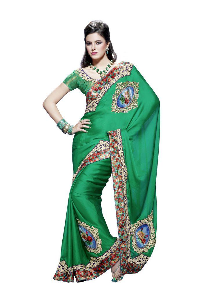 Partywear Pakistani Wedding Saree Ethnic Designer New Indian Bollywood Sari SC  #KriyaCreation #SariSaree