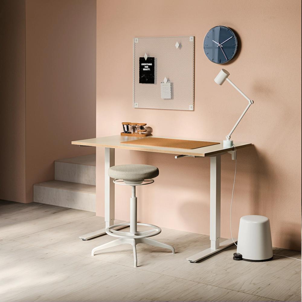 """SKARSTA Desk sit/stand, beige, white, 38 38/38x38 38/38"""" - IKEA in"""