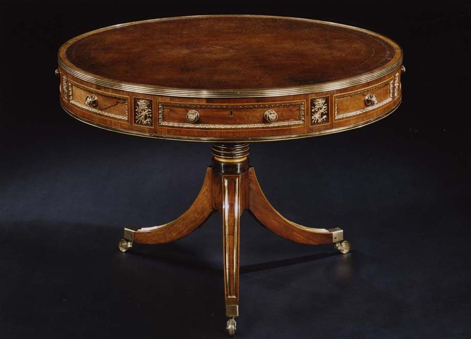 Regency Period Furniture | ... RARE ANTIQUE ENGLISH EARLY REGENCY PERIOD  CIRCULAR LIBRARY TABLE