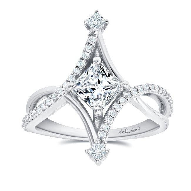 UNIQUE PRINCESS CUT DIAMOND ENGAGEMENT RING 8217L