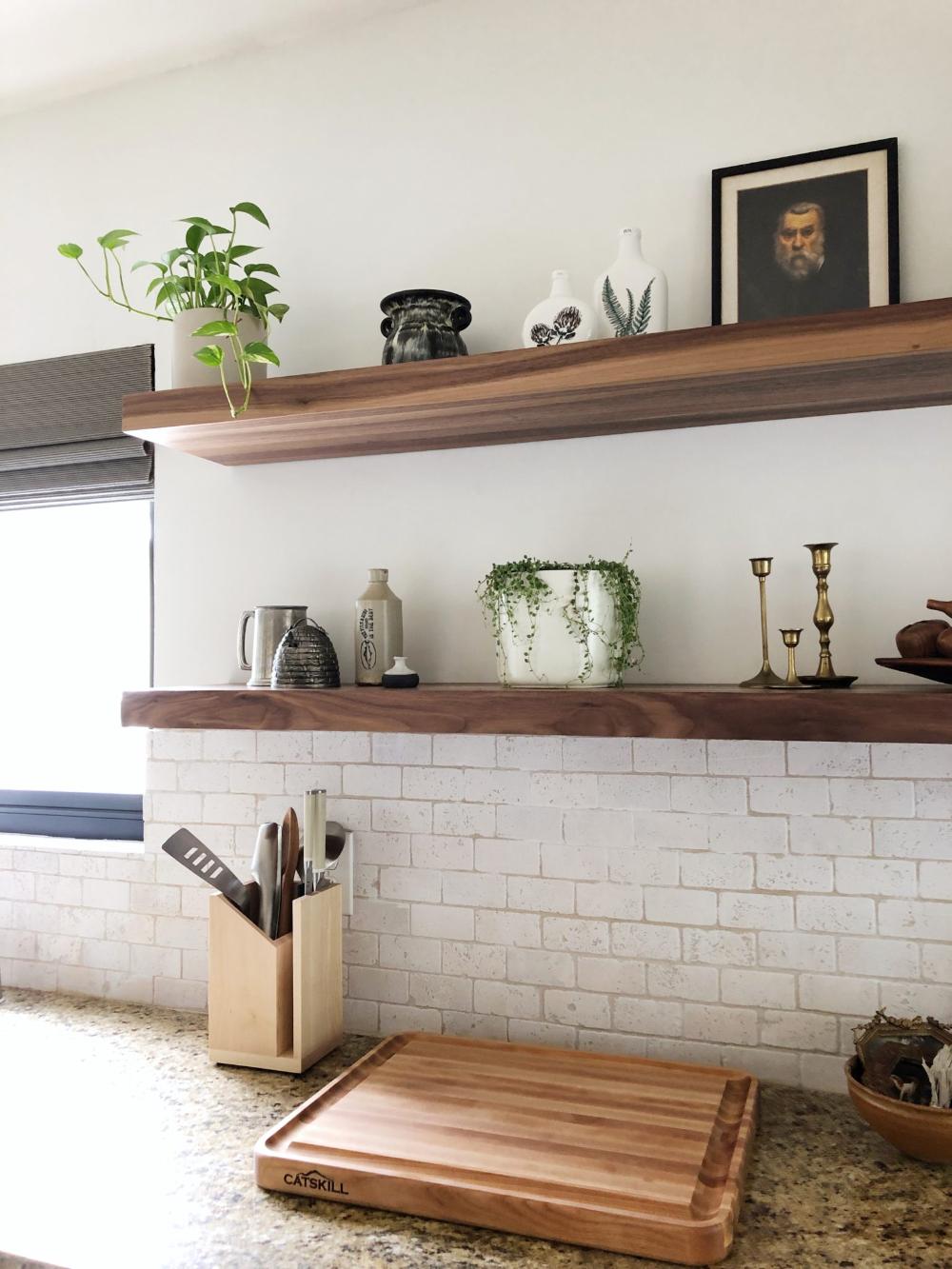 Floating Shelf in 2020 Floating shelves kitchen