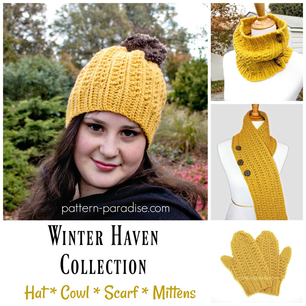 Crochet Pattern: Winter Haven Collection | Pattern Paradise - https ...