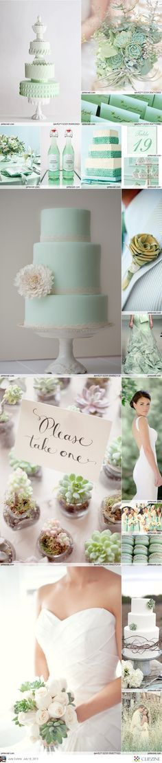 Mint Green Weddings Wedding Color SchemesWedding