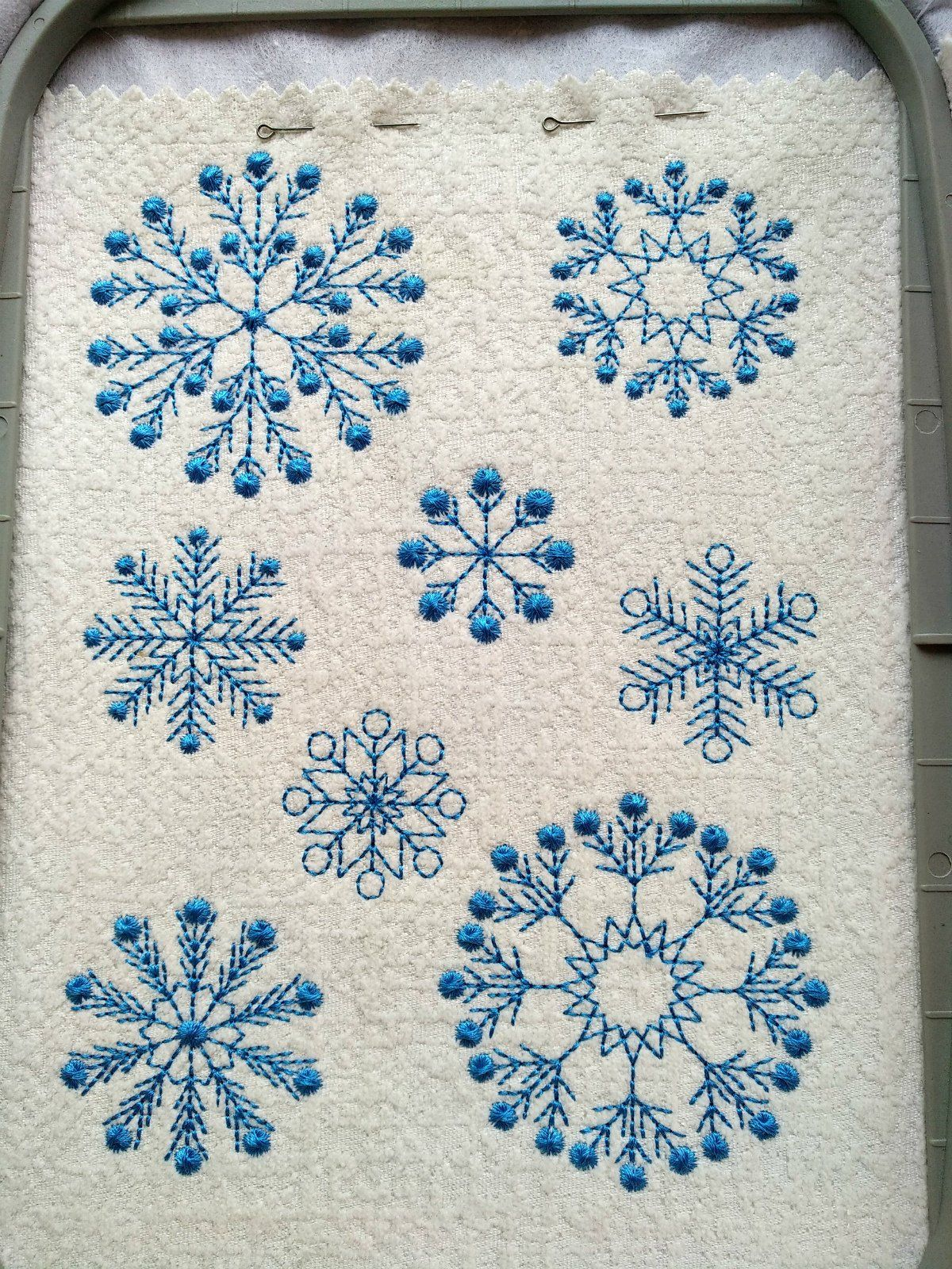 Winter Embroidery Design Snowflakes Embroidery Designs Etsy Snowflake Embroidery Snowflakes Embroidery Pattern Machine Embroidery Designs