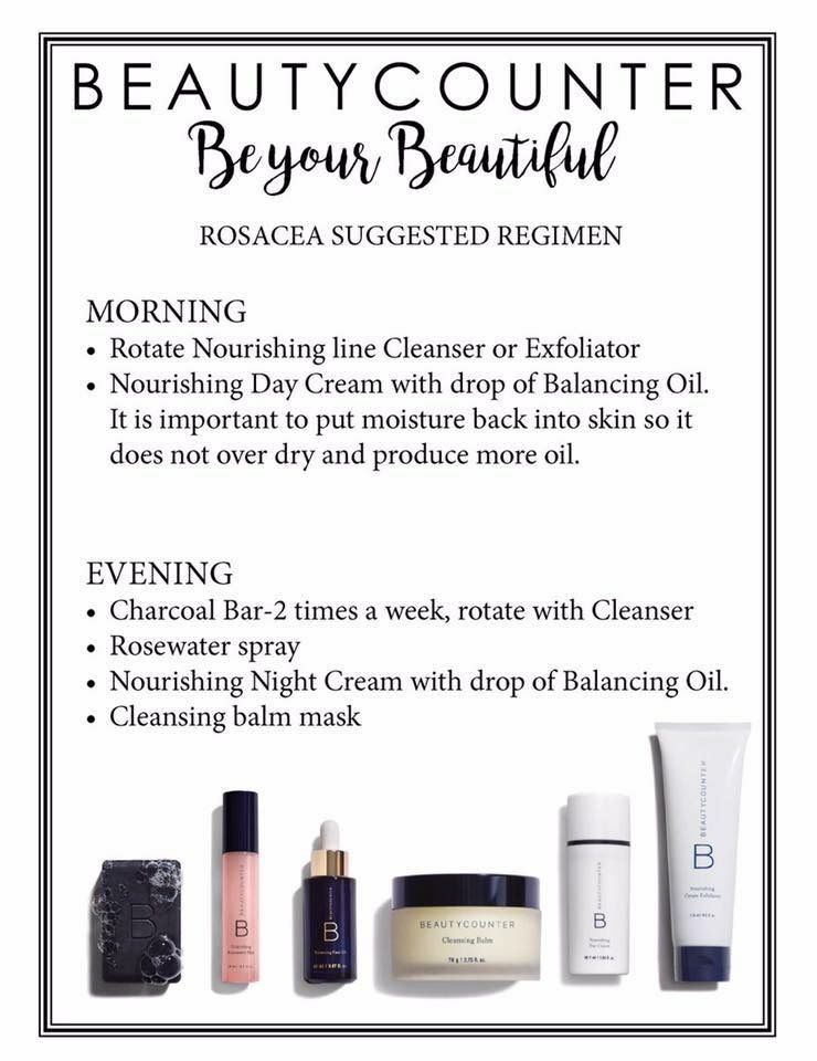 Beautycounter Suggested Routine For Rosacea Purchase At Www Beautycounter Com Vickimorton Beautycounter Safe Skincare Rosacea