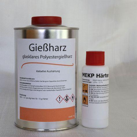 1 kg gie harz glasklar 20 g h rter polyesterharz casting resin in business industrie. Black Bedroom Furniture Sets. Home Design Ideas