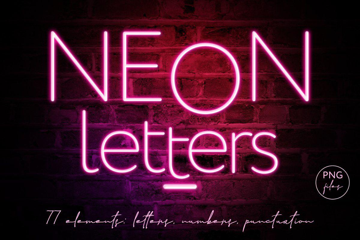 Pink Neon Letters clipart Neon, Clip art, Lettering alphabet