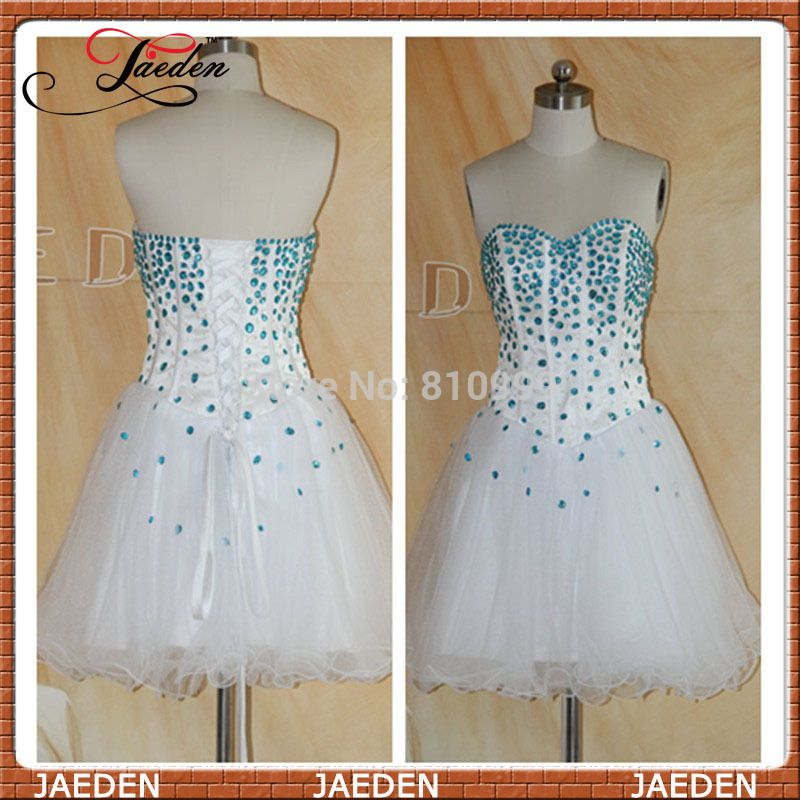 Find More Prom Dresses Information about PP204 Free Shipping Sexy A Line New Fashion 2014 Sleeveless Blue Bead White Formal Girl Party Homecoming Short Mini Prom Dresses,High Quality Prom Dresses from Suzhou Jaeden Garment Co., Ltd. on Aliexpress.com