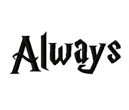 Harry Potter Always Hp Font Machine Embroidery Design 4 Inch Instant Download By Belsembro Machine Embroidery Designs Embroidery Designs Harry Potter Gifts Diy
